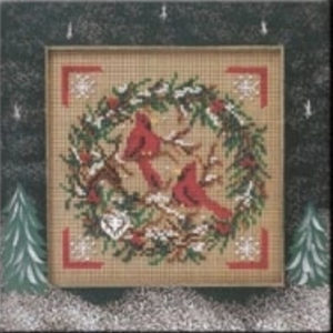 Mill Hill Kit - Cardinal Wreath