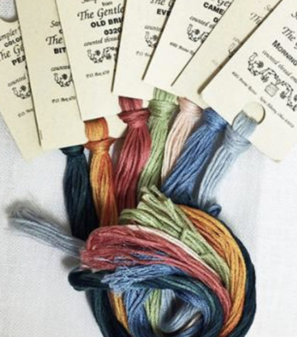6 strand, hand-dyed, overdyed cotton floss available in 5 yard and 10 yard quantities